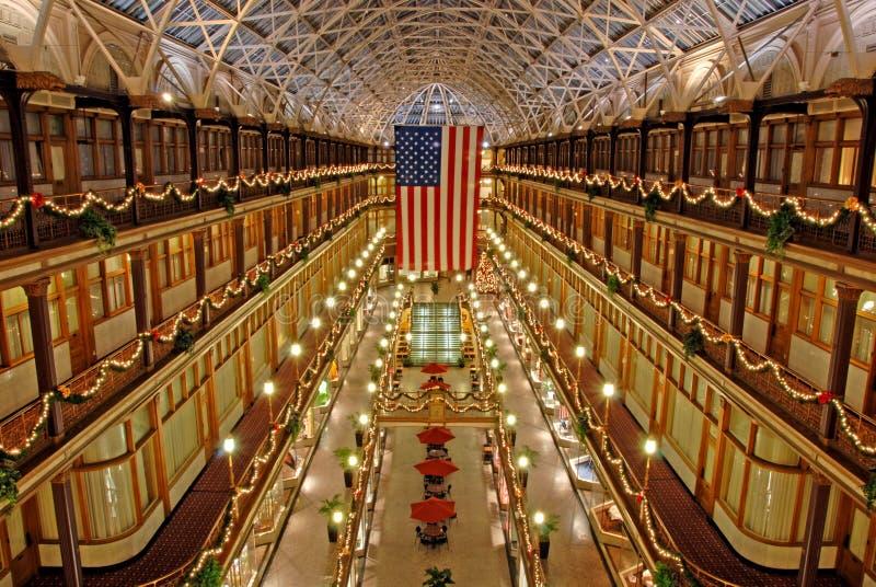 аркада cleveland Огайо стоковые фотографии rf