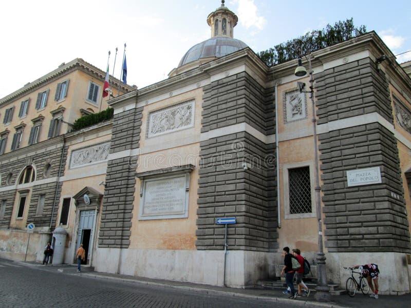 Аркада del Popolo одно самых лучших известных мест в Риме Италии Европе стоковая фотография rf