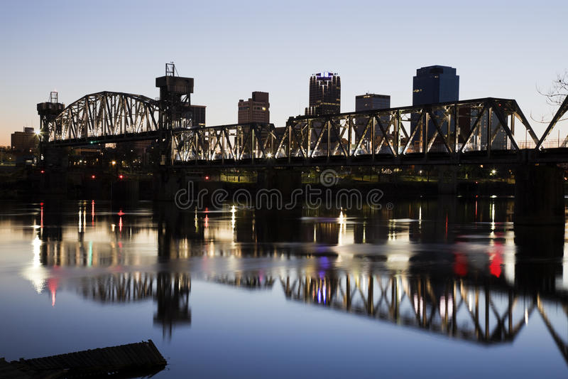 Арканзас меньший заход солнца утеса стоковая фотография