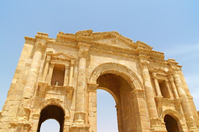 Арка Адриан в Иераше, Иордания стоковые фото