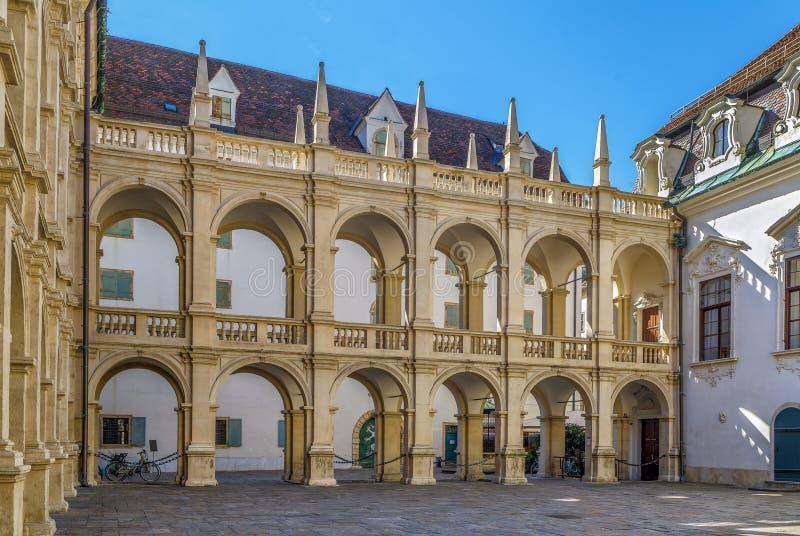 Аркада в Landhaus, Граце, Австрии стоковые изображения