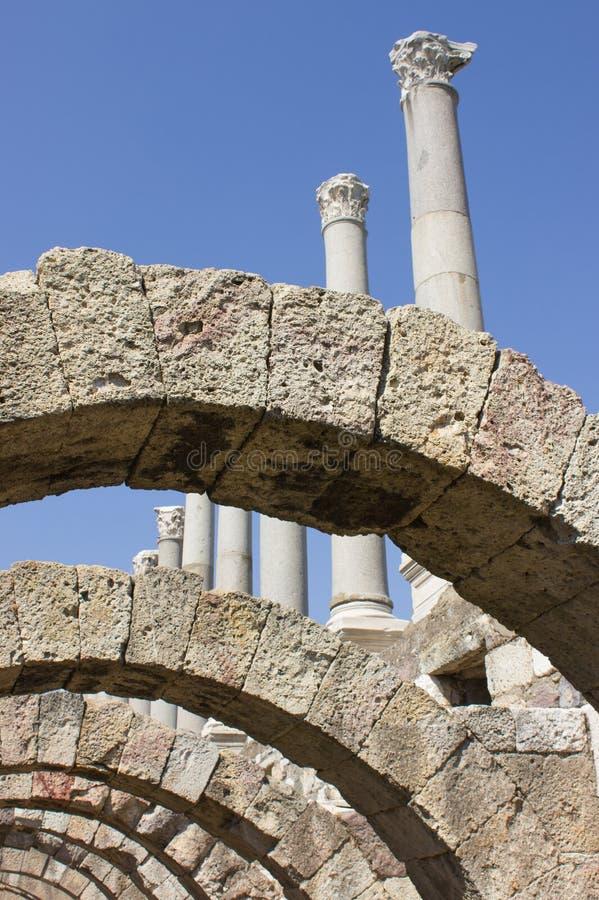 Аркада и колоннада в агоре стоковые фото