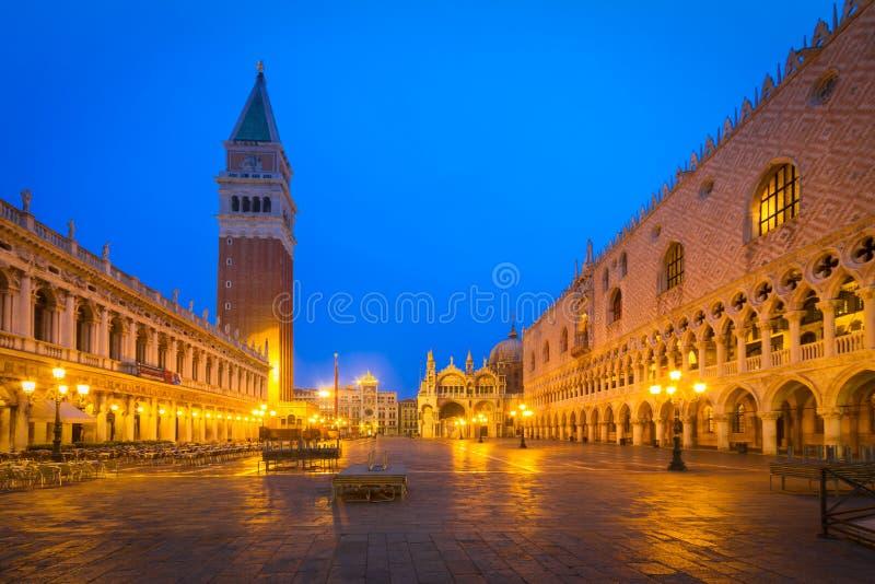 Аркада Сан Marco на зоре, Венеция, Италия стоковые изображения rf