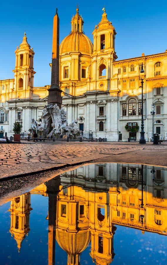 аркада rome navona стоковая фотография