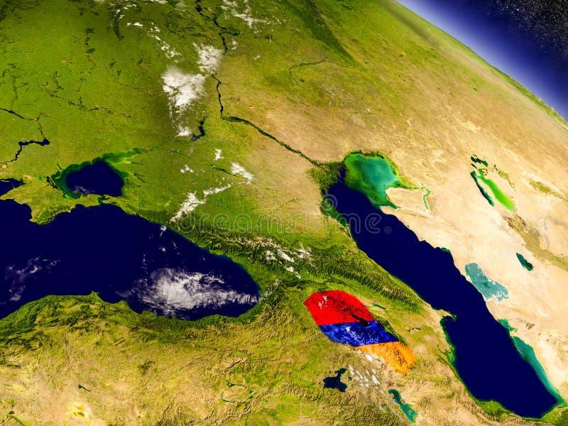 Download Армения с врезанным флагом на земле Иллюстрация штока - иллюстрации насчитывающей иллюстрация, представьте: 81803472