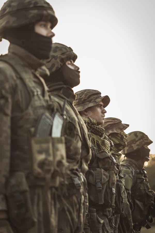 Армия их семья стоковое фото rf