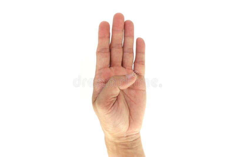 Армия/сигналы рукой Сват тактические/сигнал: 4 4 изолированного на белой предпосылке стоковое изображение rf