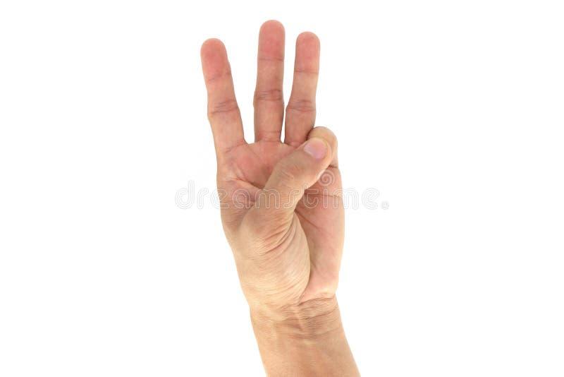 Армия/сигналы рукой Сват тактические/сигнал: 6 6 изолированных на белой предпосылке стоковые фотографии rf