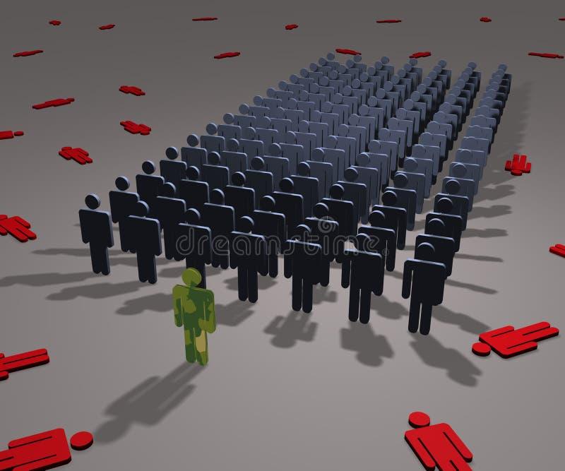 армия соединяет иллюстрация вектора