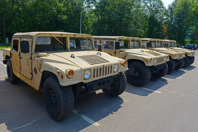 Армия США Humvee в Потсдаме, Нью-Йорке, США стоковые изображения rf