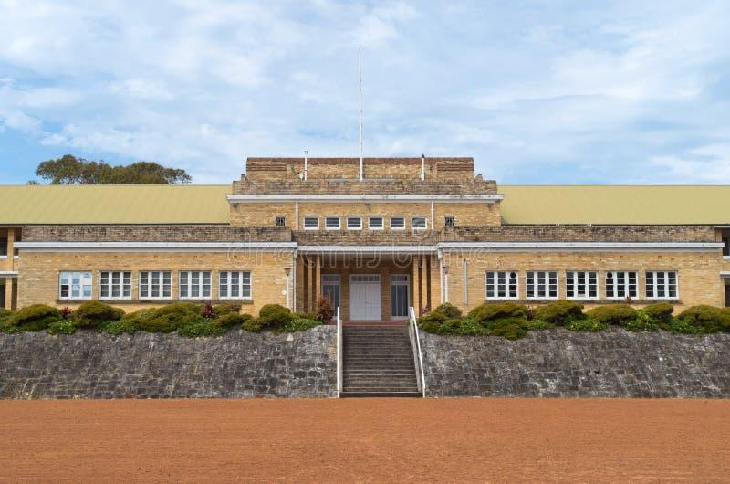Армия barracks здание на северном форте стоковое изображение rf