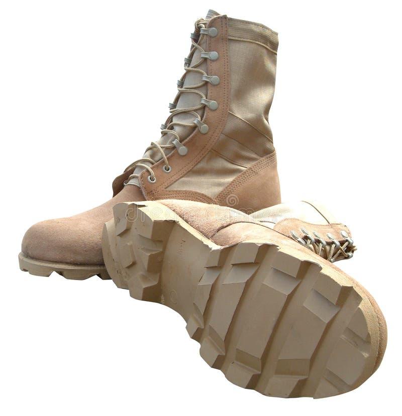 армия boots пустыня стоковая фотография rf