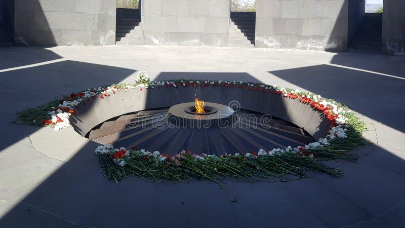 Армянские мемориал и музей геноцида в Ереване, Армении стоковое фото rf