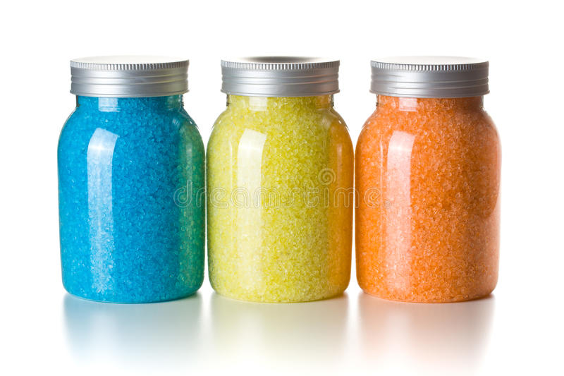 ароматичное море соли для принятия ванны стоковые изображения rf