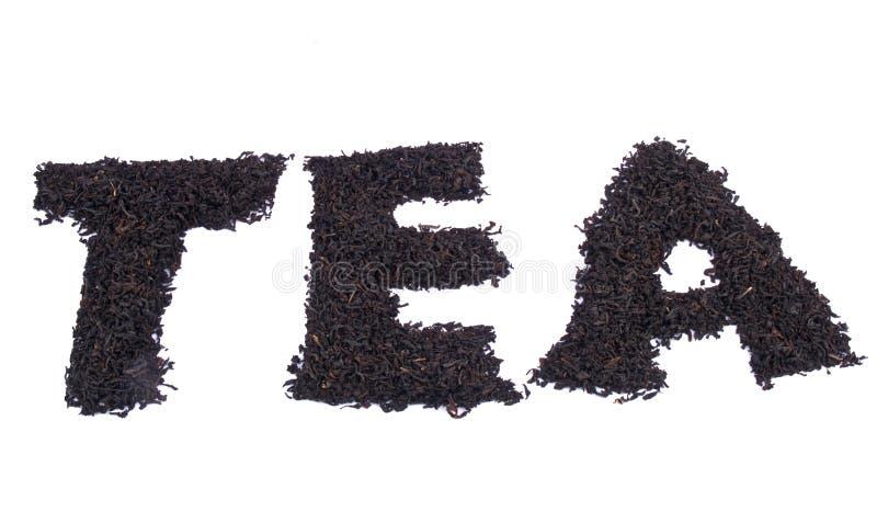 ароматичное слово чая стоковая фотография rf