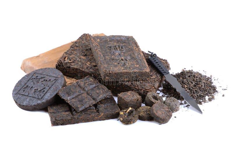 Ароматичный чай pu-erh черноты стоковые изображения rf