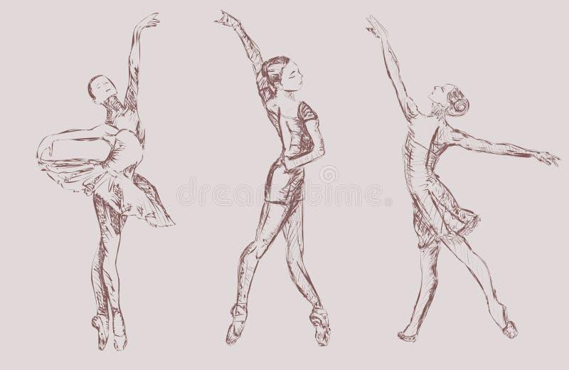 Артисти балета иллюстрация вектора