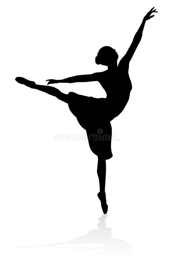 Артист балета силуэта бесплатная иллюстрация