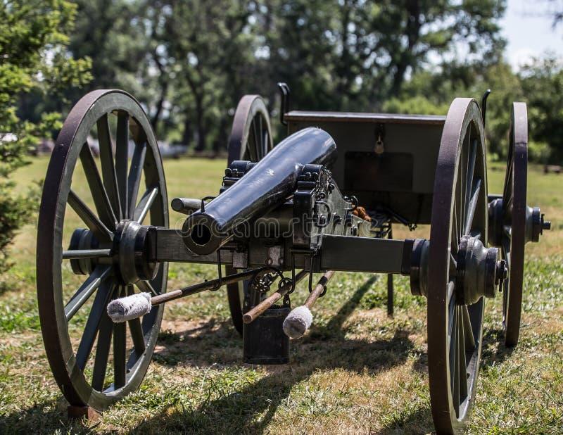 Артиллерия гражданской войны стоковая фотография rf