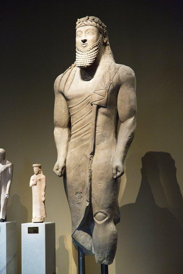Архаическая Votive статуя стоковая фотография