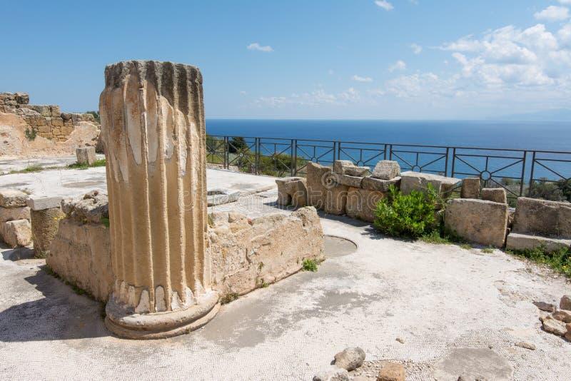 Археологическая зона Solunto, около Палермо, в Сицилии стоковая фотография