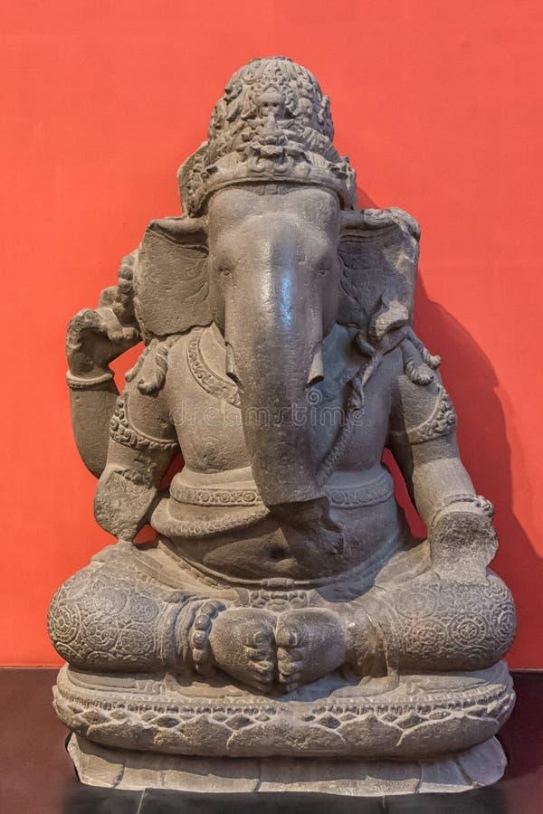 Археологическая скульптура лорда Ganesh, от индийской мифологии стоковое фото rf