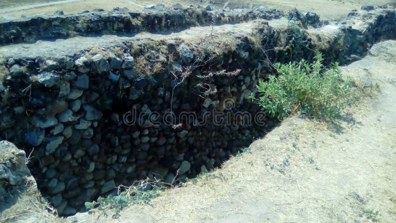 Археологические раскопки: Ixtépete, Гвадалахара стоковая фотография