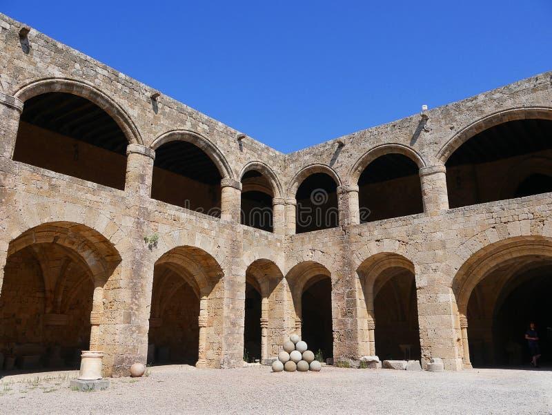 Археологический музей в городке Родоса безоговорочно самый лучший музей в Dodecanese стоковое изображение rf
