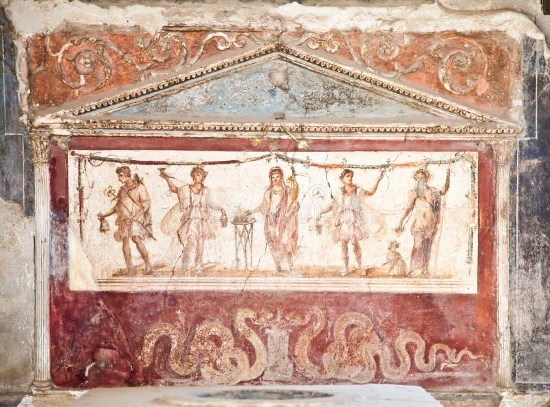 археологическое место pompeii стоковые изображения rf