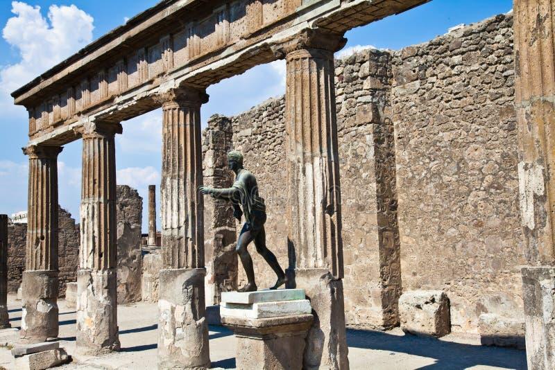 археологическое место pompeii стоковые изображения