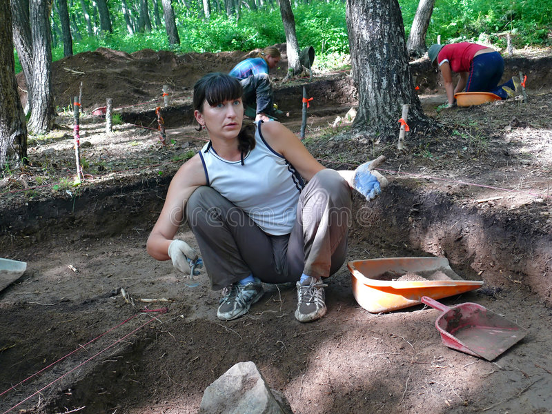 археолог 7 стоковое фото