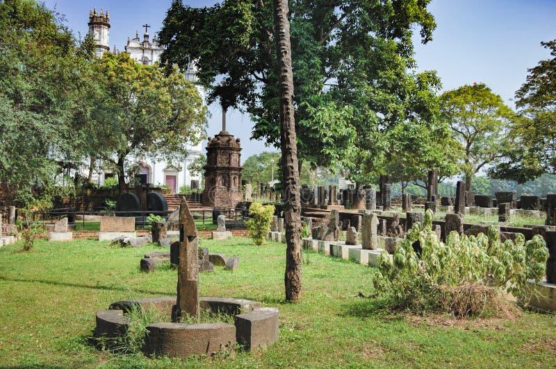 Археологические артефакты музея в старом Goa, Индии стоковые изображения rf