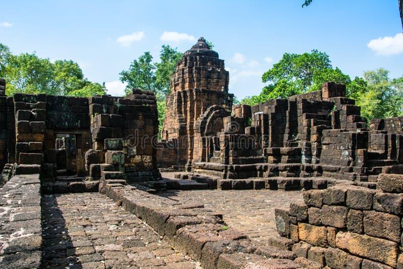 Археологические раскопки, замок Таиланда стоковая фотография