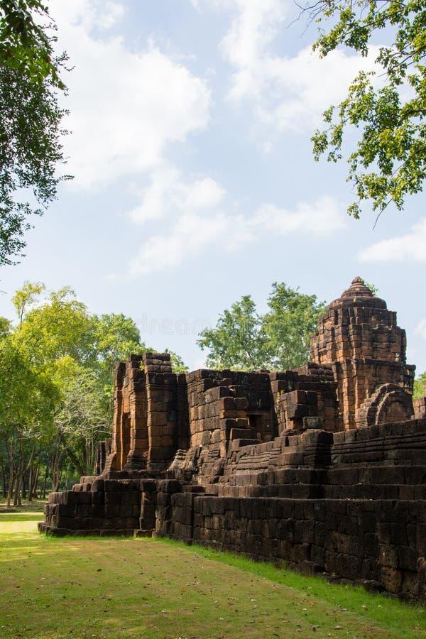 Археологические раскопки, замок Таиланда стоковая фотография rf