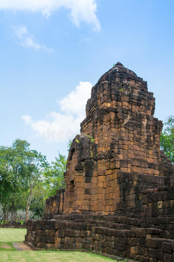 Археологические раскопки, замок Таиланда стоковое фото rf
