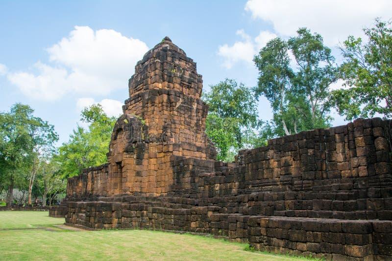 Археологические раскопки, замок Таиланда стоковые фотографии rf