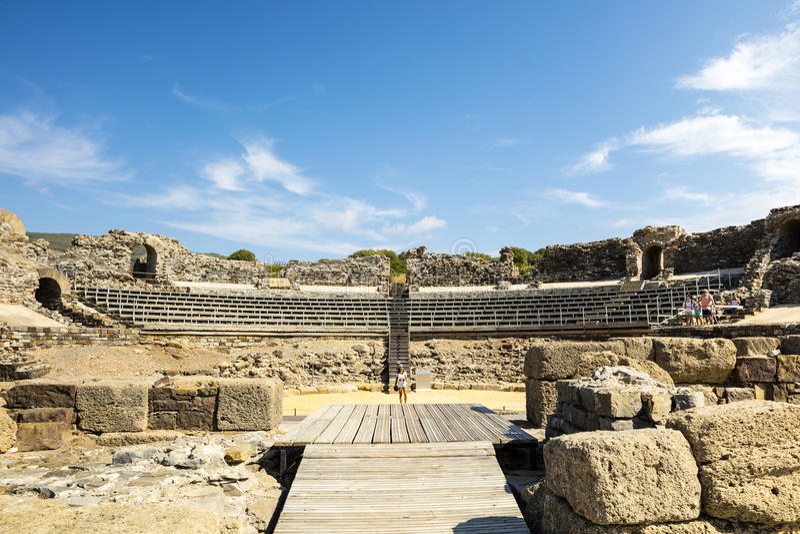 Археологические раскопки Baelo Клаудии в Испании стоковые фотографии rf