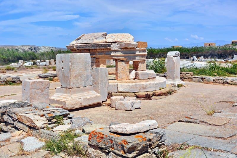 Археологические раскопки Delos стоковое изображение rf