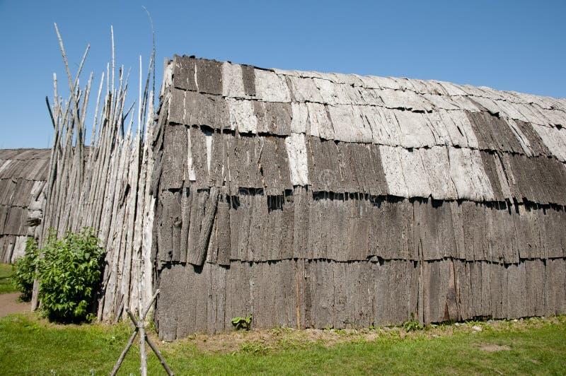 Археологические раскопки Tsiionhiakwatha Droulers - Квебек - Канада стоковые изображения rf