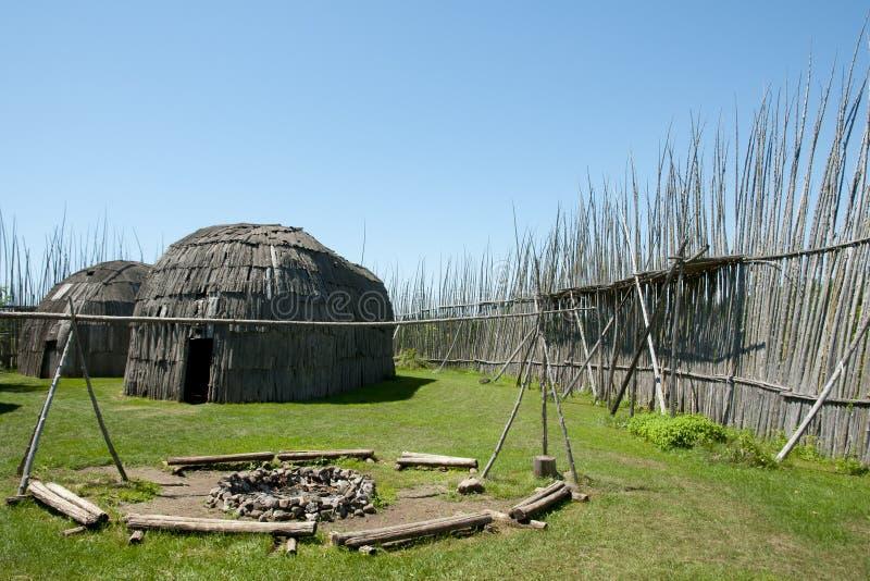 Археологические раскопки Tsiionhiakwatha Droulers - Квебек - Канада стоковое изображение rf