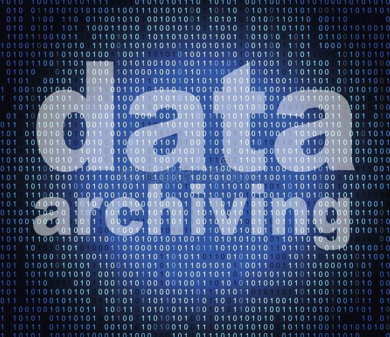 Архивирование данных значит каталог и байты каталога иллюстрация вектора