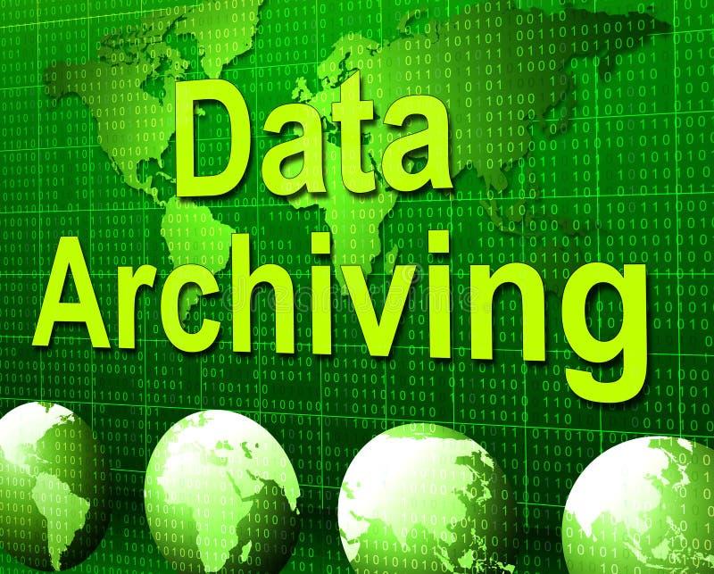 Архивирование данных показывает хранение и каталог факта бесплатная иллюстрация