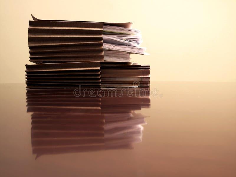 архивы стола стоковое фото rf