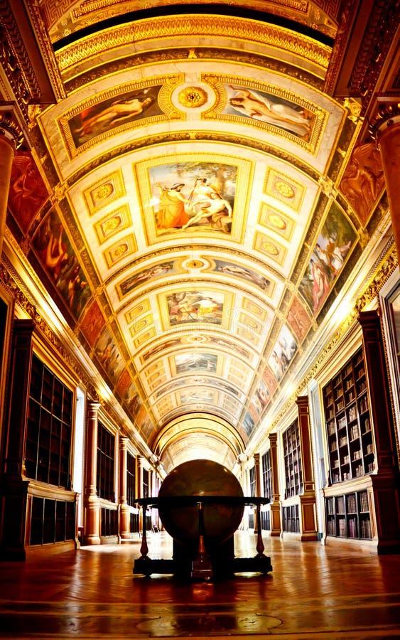 Архив дворца Fontainebleau стоковые фотографии rf