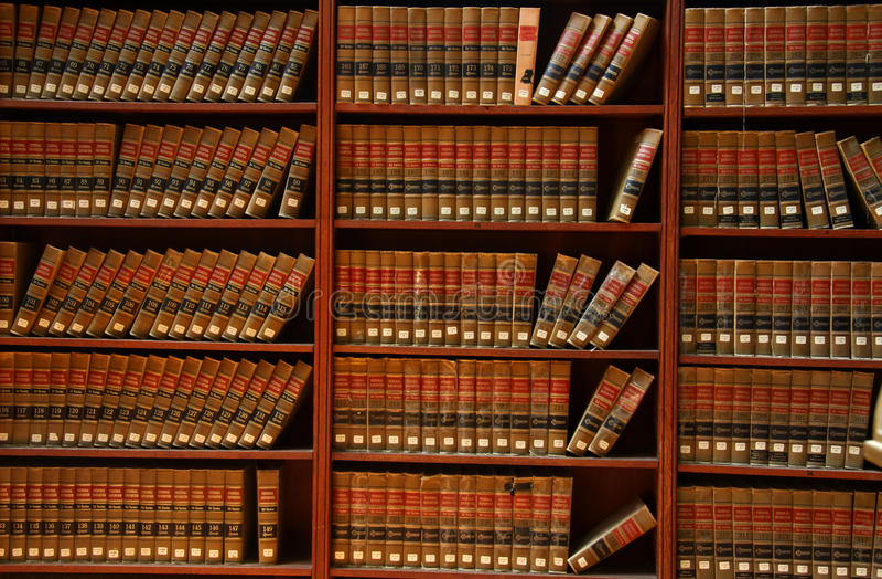 архив закона книги стоковое изображение
