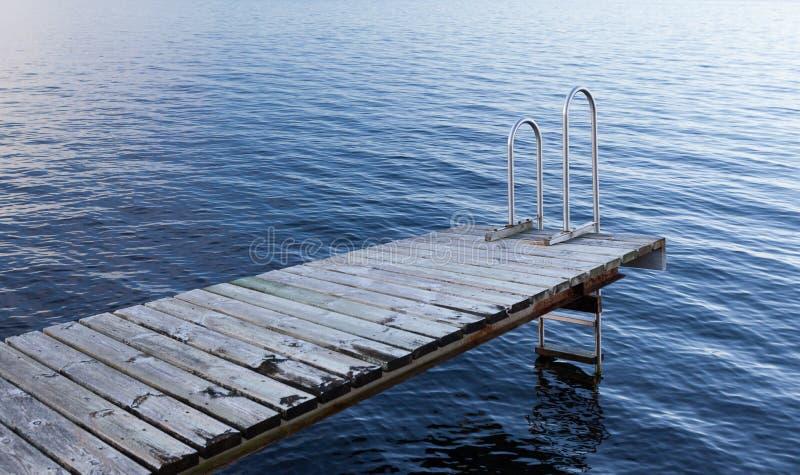 Архипелаг Стокгольм - пустая купая платформа стоковые фото