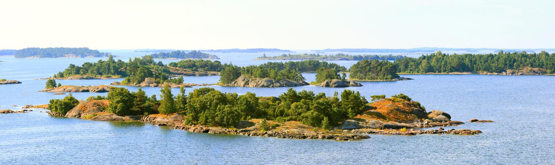 Архипелаг островов Aland.