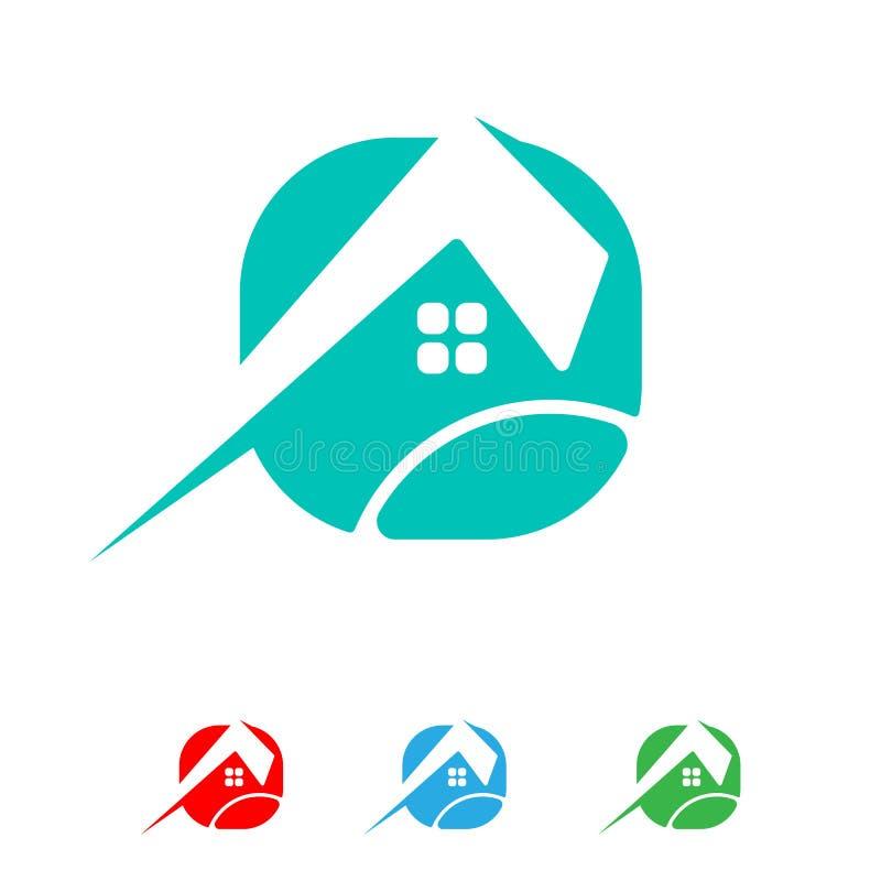 архитектор, дом, вектор шаблона логотипа конструкции творческий изолировал бесплатная иллюстрация