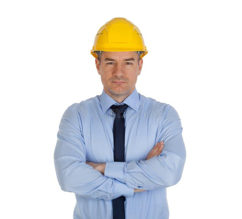 Архитектор со сложенными руками стоковые изображения