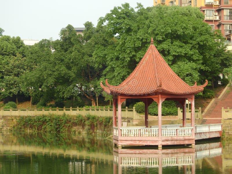 Архитектура Å'ancient ¼ павильона ïводы китайская стоковые изображения rf